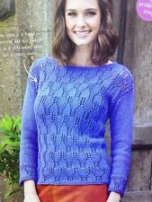 """Ladies Casual Lace Sweater/Jumper DK KNITTING PATTERN -Sizes 8-22 (32-46"""" Bust)"""