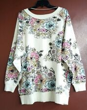 NWT FREE PEOPLE GO ON GET FLORAL LOOSE FIT  PULLOVER TOP SMALL