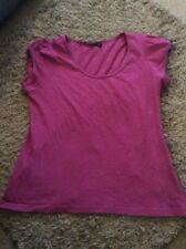 LADIES DEEP PINKISH COLOUR ATMOSPHERE COTTON SHORT SLEEVE TOP/TSHIRT SIZE 14