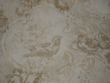 1/2 yd~  Gold  Floral Bouquets And Fancies  Bird  cotton Fabric~ Quilt quality