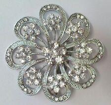new stuning large crystal diamante flower brooch,bridal