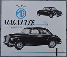 MG Magnette 1954? single page duo-tone BMC NA brochure - HTC 1-13-54