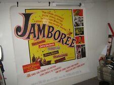 "Orig 1957 JAMBOREE 6 Sheet 81"" X 81"" LINEN BACKED Fats Domino JERRY LEE LEWIS"