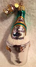 Millennium Champagne,Christmas,New Year,Ornament,Blown Glass,D56,Retired,Poland