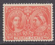 Canada Sc 59 MLH. 1897 20c vermilion Victoria Jubilee, fresh, well centered.