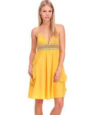 Stunning Miss Sixty Adrianne Raffia Yellow Sun Summer Evening Dress Size XS 8/10