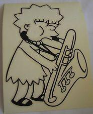 Simpsons Maggie Saxophone sticker  Licensed