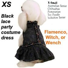 ZACK & ZOEY Black Satin & Lace dress XS Dog Costume party outfit w Ruffles ~ NEW