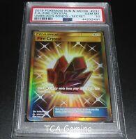PSA 10 GEM MINT Fire Crystal 231/214 SM SECRET RARE Pokemon Card