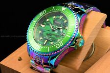Invicta 54mm Grand Grand Diver Iridescent Green Abalone Dial Automatic SS Watch