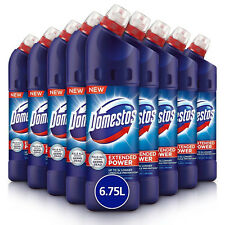 9x Domestos Original Extended Power Germ Killing Disinfectant Thick Bleach 750ml