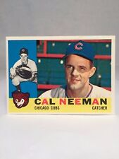 1960 Topps #337 Cal Neeman Card Chicago Cubs