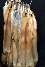 Tanned Red Fox Hides XL #1's Heavy Prime Fur Pelts Skins Fresh Tan Soft Leather