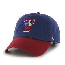 Texas Rangers 47 Brand Clean Up Adjustable Hat Baseball Cap 2 Tone Flag
