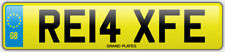 Relax Relaxed number plate RE14 XFE CAR REG FEES PAID RELAXING DRIVE CHILL COMFY