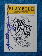 She Loves Me - Criterion Theatre Playbill Card with Autograph - Jonathan Freeman