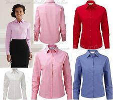 Taillenlang Damenblusen,-Tops & -Shirts im Blusen-Stil mit Baumwolle ohne Muster