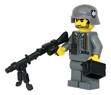 World War 2 German MG34 Soldier WW2 Minifigure made with real LEGO(R) part