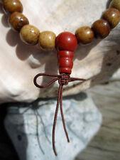 bargain price CUSTOM DESIGN RED JASPER RECYCLED BONE WRIST MALA TIBETAN BUDDHIST
