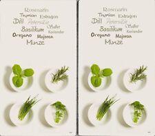 2x Glas Herd-Abdeckplatte Platte Abdeckung für Ceranfeld Induktion Motiv Kräuter