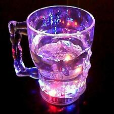 LED  Flash Cups Flashing Luminescent Glass Beer Mug Induction Skull LED Cup