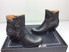 Lucchese Alondra Ankle Bootie Cowboy Boots Black Etched Size 8 B Western Cowgirl