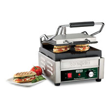 "Waring Wpg150 9.75"" x 9.25"" Ribbed Sandwich Panini Grill 120v"