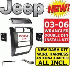 03 04 05 06 JEEP WRANGLER TJ Car Radio Stereo Installation Double Din Dash Kit