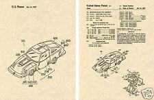 Transformers SILVERSTREAK US Patent Art Print READY TO FRAME! Blue Prowl Smoke