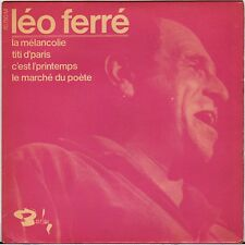 """LEO FERRE """"LA MELANCHOLIE"""" 60'S EP  BARCLAY 70750"""