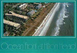 Aerial View of Hilton Head Island, South Carolina, Forest Beach Area - Postcard