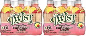 Nature's Twist Sugar Free Strawberry Lemon 16 oz 6 Bottle Pack 2 Pack