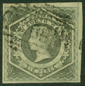 EDW1949SELL : NEW SOUTH WALES 1854-55 Scott #29 Very Fine, Used. Choice Cat