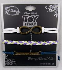 Disney Toy Story To Infinity & Beyond 3 Pack Arm Party Bracelet Set Charms Braid