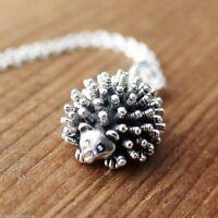 Hedgehog Necklace - 925 Sterling Silver Charm Necklace *NEW* Porcupine Hedge hog