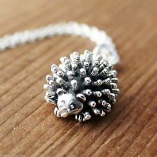 Hedgehog Necklace - 925 Sterling Silver Charm Necklace *NEW* Porcupine Hedge hog