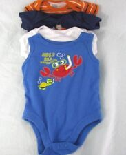BABY CLOTHES BOYS OUTFITS NEWBORN ONE PIECE LOT OF 4 O-3 MOS EXCELLENT CONDITION