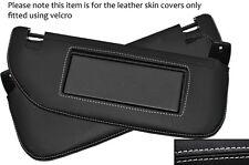 White stitch 2x pare-soleil peau cuir couvre fits CITROEN DS3 2009-2014