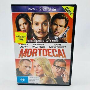 Mortdecai (DVD, 2015) Region 4 With Johnny Depp In Good Condition