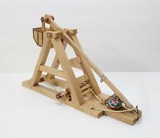 Beech Wood Operating Medieval Trebuchet Catapult Model HandMade NEW