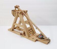 Beech Wood Operating Medieval Trebuchet Catapult Model HandMade NEW