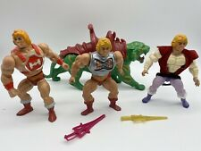 MOTU LOT He-Man Masters Of The Universe PRINCE ADAM Battlecat Thunder Punch