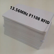 Blank RFID Card Inkjet Printable 13.56Mhz IEC14443 1k S50 M1 NFC F1108 10pcs