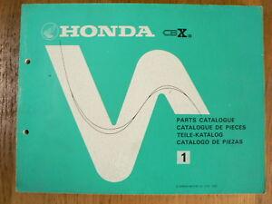 HONDA CBX-B  SIX 1000 PARTS CATALOGUE 1981,TEILE-KATALOG, PIECES,PRO-LINK ?