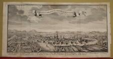VIENNA (WIEN) AUSTRIA 1740 SALMON ANTIQUE ORIGINAL COPPER ENGRAVED CITY VIEW