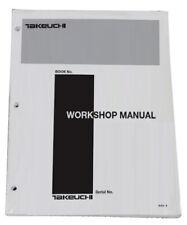 Takeuchi Tb125 Tb135 Tb145 Compact Excavator Workshop Service Repair Shop Manual