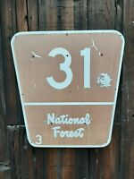 National Forest Vintage Aluminum Sign