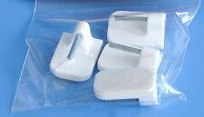 4 x Gardinenhaken Klebehaken weiß 17 x 25mm selbstklebend Scheibengardinenstange