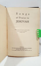 Rare 1928 Hardcover Song Book Songs of Praise to Jehovah Watch Tower IBSA