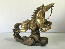 Bronze Horse Sculpture Statue Western Galloping